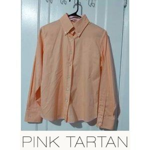 Pink Tartan Button Down Top